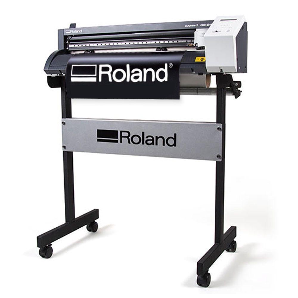 Roland CAMM1 GS 24 Vinyl Cutter Plotter for Decals Heat Transfer Press Kit  eBay