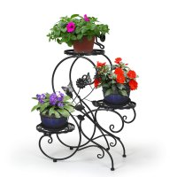 Home Garden 3 Tier Metal Plant Stand Patio Decorative