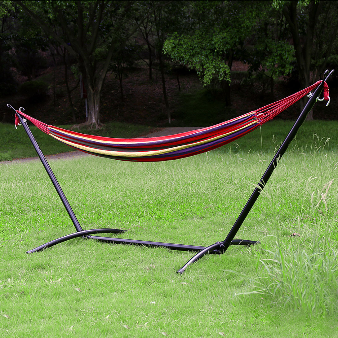Camping Outdoor Portable Hammock With Heavy Duty Steel