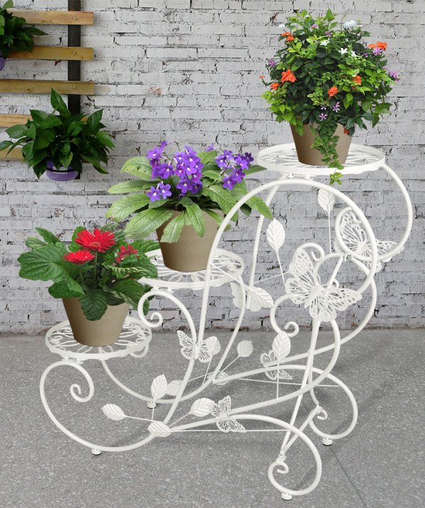 3 Tier Metal Plant Stand Flower Pot Display Holder Rack