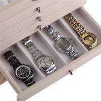 Wooden Jewelry Box Case Armoire Cabinet Ring Watch Storage ...