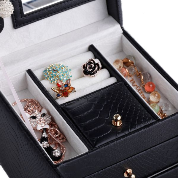 Cute Jewelry Box Case Ring Earring Necklace Storage