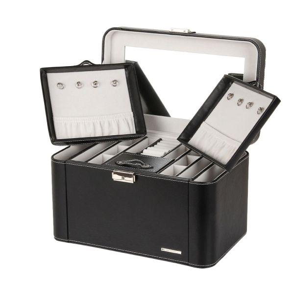 Jewelry Box Case Ring Necklace Trinket Watch Storage