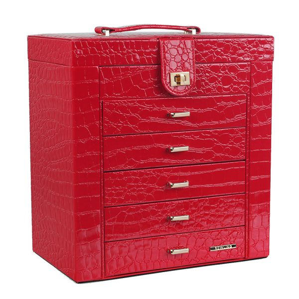 Large Jewelry Box Cabinet Armoire Ring Watch Trinket