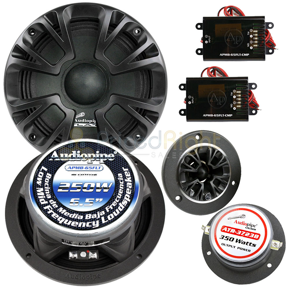 hight resolution of details about 6 5 midrange speaker tweeter crossover component set apmb 65flt cmp 1000w max