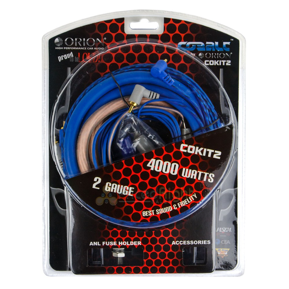 medium resolution of orion 2 gauge amp installation wiring kit 2 ga install power cables 2 0 gauge wiring kit 2 gauge wiring kit