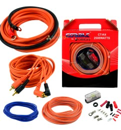 orion 4 gauge amp kit amplifier install wiring installation power wire complete [ 1200 x 1200 Pixel ]