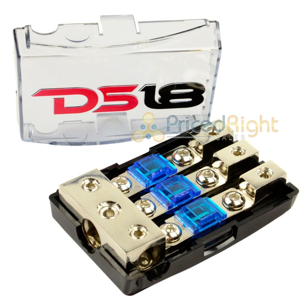 medium resolution of ds18 mini anl fuse holder 0 4 8 gauge input output fd1024 distribution block