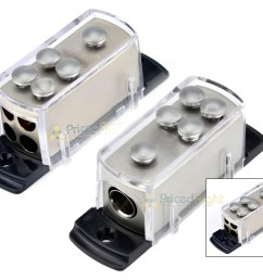 two 4 8 gauge power distribution block car audio wiring 1 to 4 amp platinum [ 1600 x 1274 Pixel ]