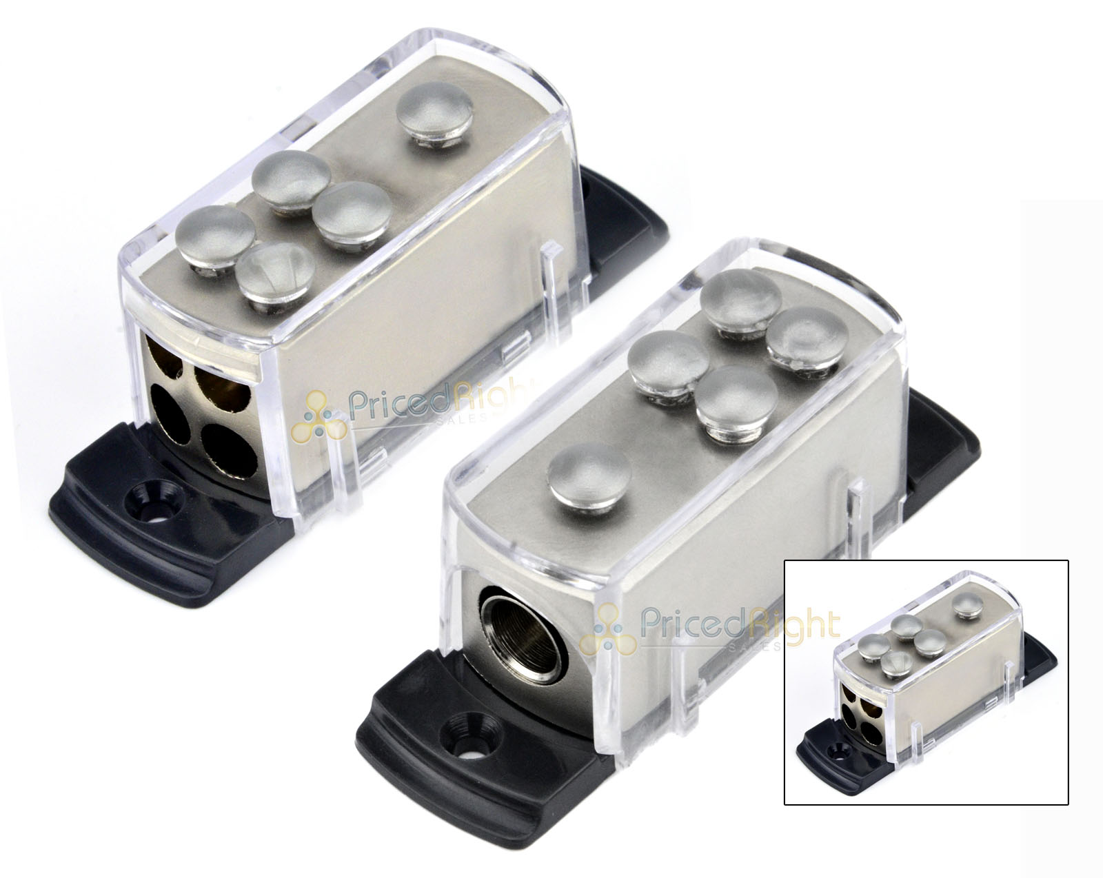 hight resolution of two 4 8 gauge power distribution block car audio wiring 1 to 4 amp platinum