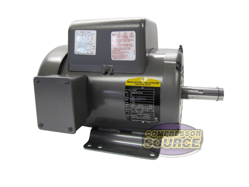 5 hp single phase baldor electric compressor motor 184t frame