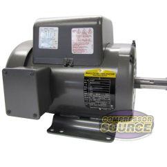 Baldor Single Phase 230v Motor Wiring Diagram 1972 Vw Beetle Ignition Switch 5 Hp Electric Compressor 184t Frame Details About L1430t 230 Volt