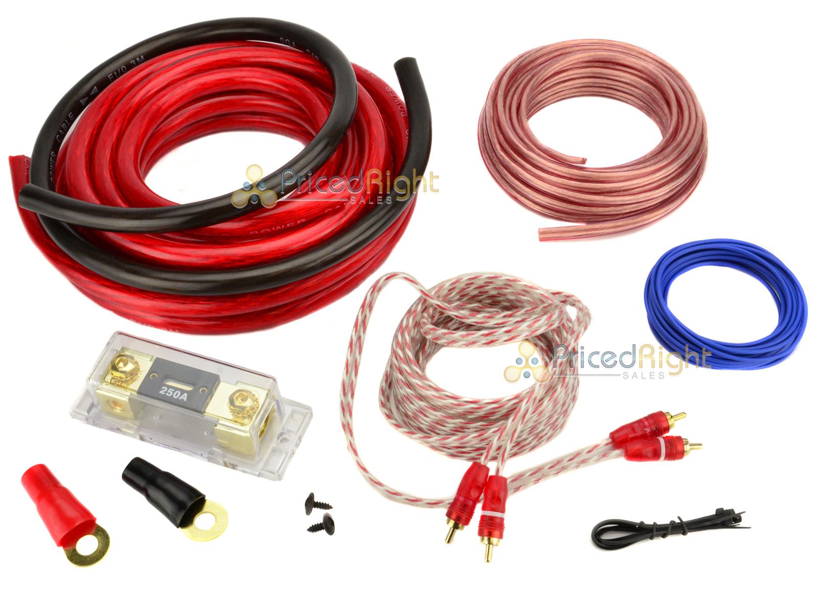 0 Gauge 3000W Car Amplifier Wiring Installation Power Kit