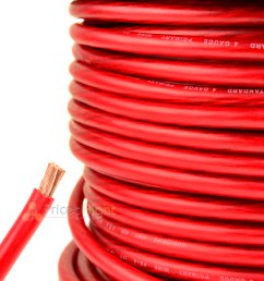 details about 25 ft 4 gauge red power wire super flexible cable car audio ground stranded [ 1200 x 1200 Pixel ]