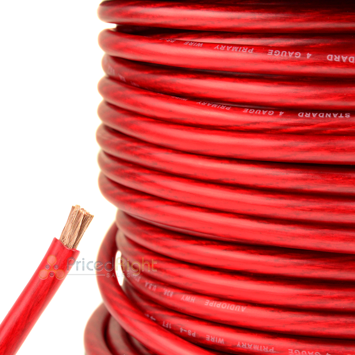hight resolution of details about 25 ft 4 gauge red power wire super flexible cable car audio ground stranded