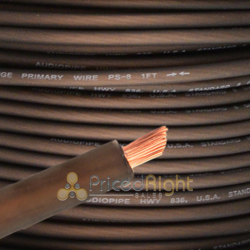 hight resolution of details about 10 ft black 8 gauge speaker wire amp power wire ground car audio flexible