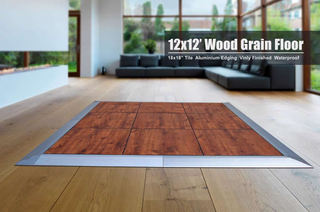 Portable Dance Floor Tile Vinyl Finished ABS Resin 18x18x1