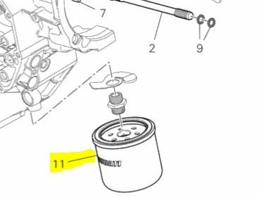 Ducati OEM Replacement Oil Filter (Spin-On) 44440037A