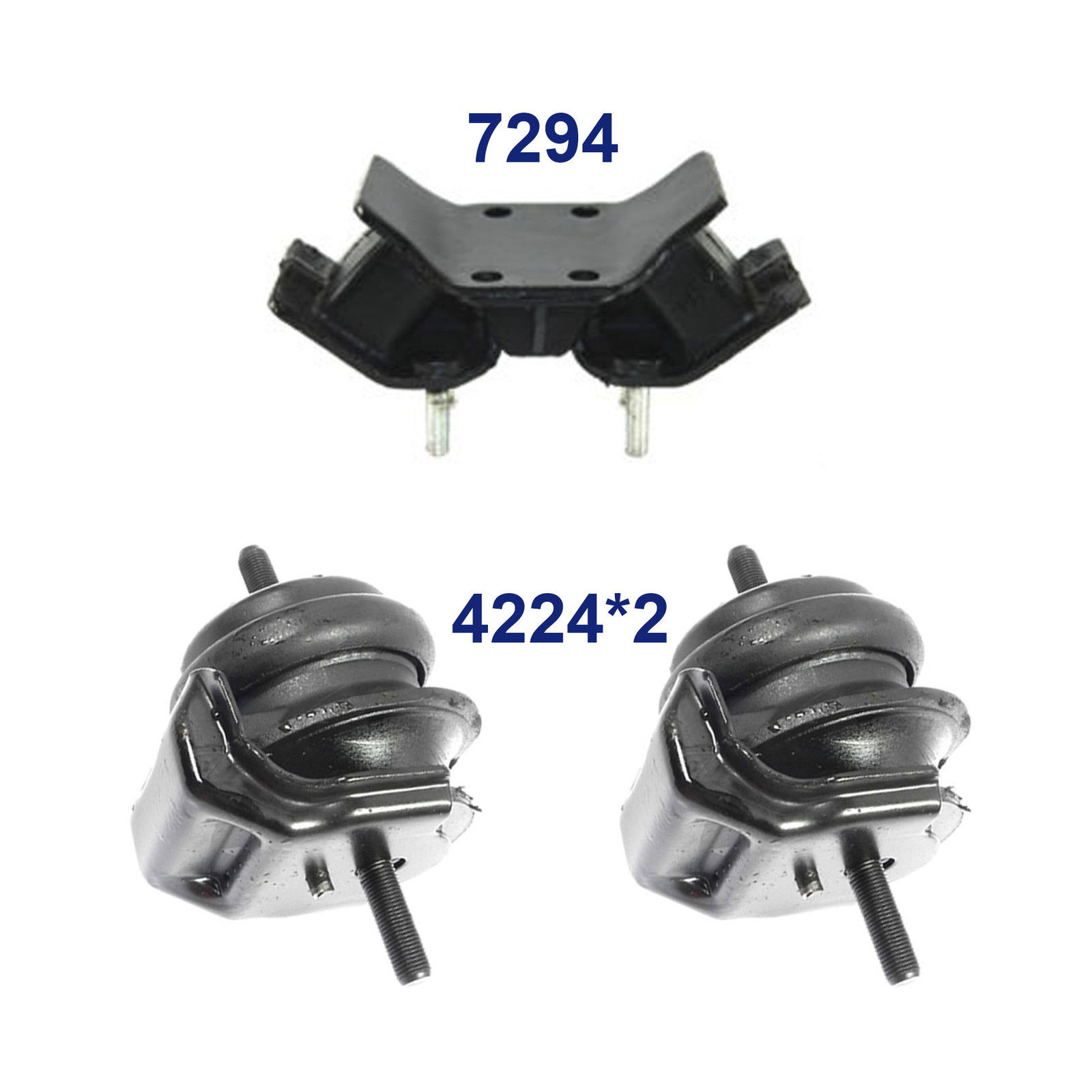 hight resolution of details about for 93 97 lexus gs300 3 0l set 3 engine motor trans mount 4224 4224 7294 m1295