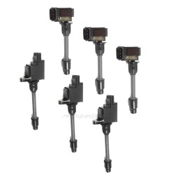 details about ic48 set of 6 ignition coil b288 3 b275 3 for 00 01 nissan maxima infiniti [ 1900 x 1900 Pixel ]