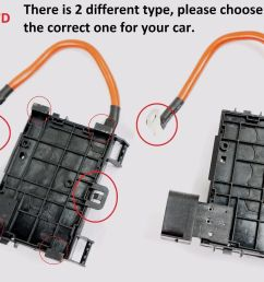 for vw beetle bora jetta golf mk4 hi temp fuse box w cable wire connector [ 1600 x 1068 Pixel ]