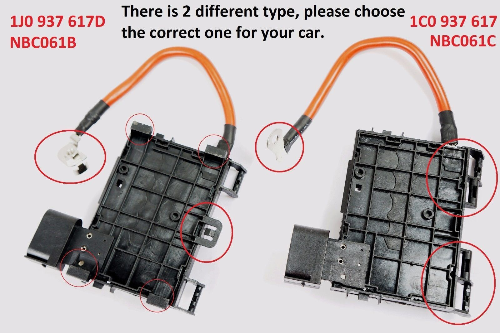 hight resolution of for vw beetle bora jetta golf mk4 hi temp fuse box w cable wire connector