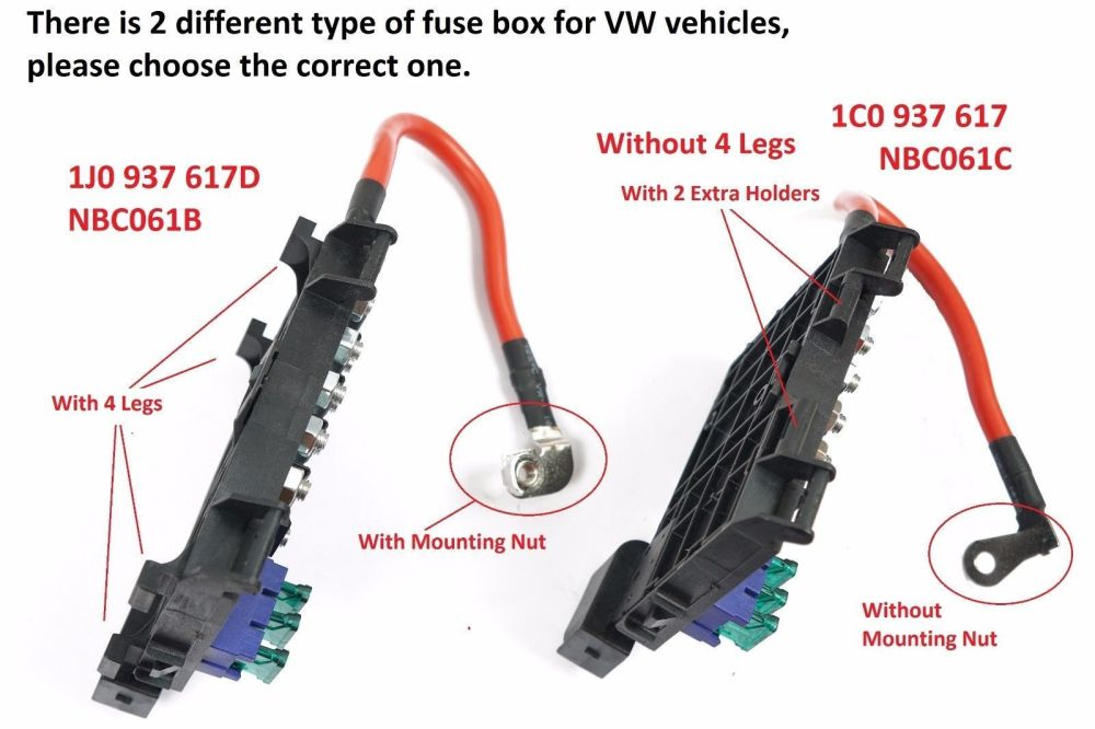 medium resolution of for vw beetle bora jetta golf mk4 hi temp fuse box w cable wire connector fb02