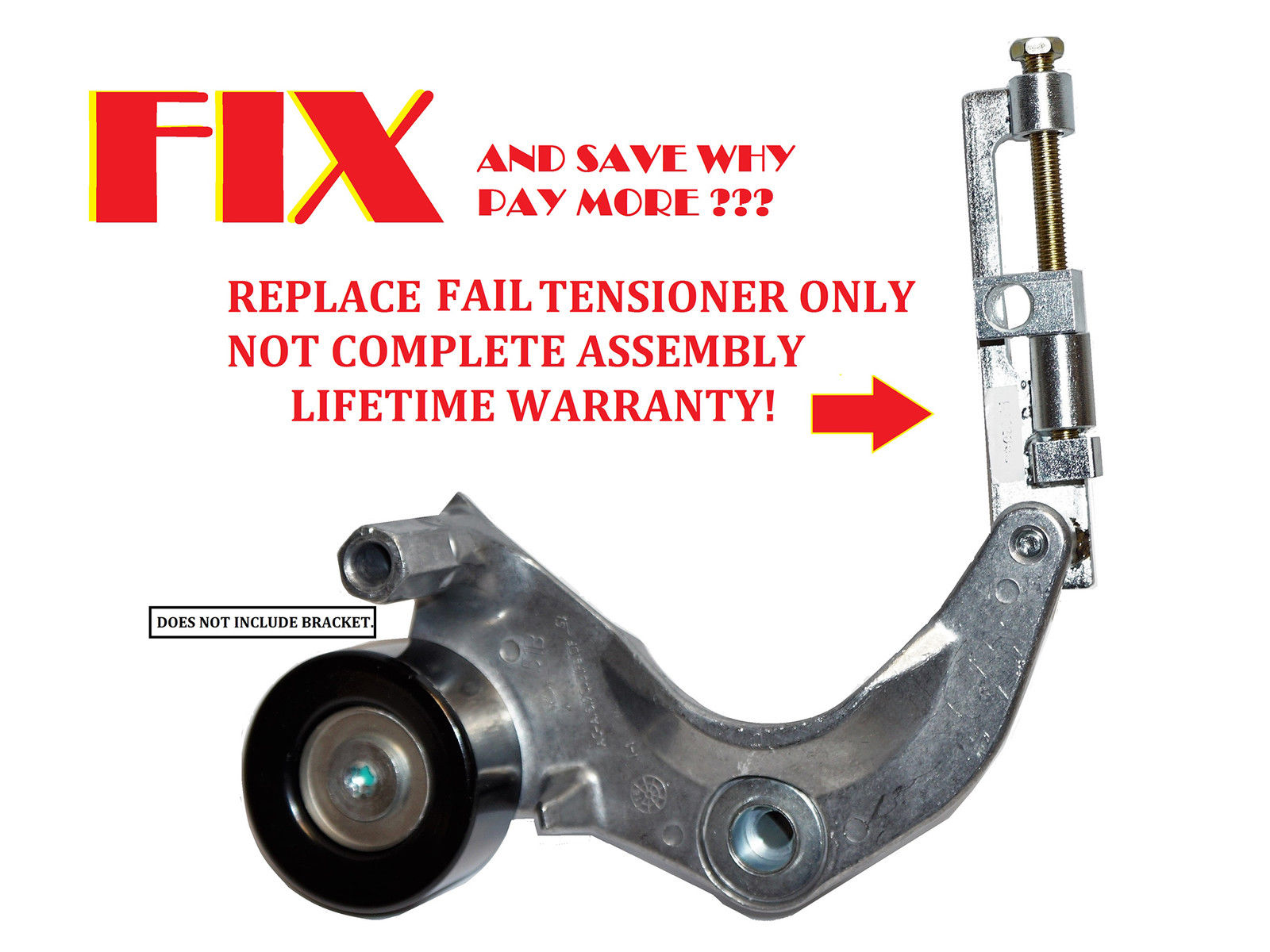hight resolution of metal serpentine belt tensioner kit 2006 for honda civic dx ex lx gx 1 8l l4
