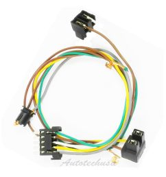 left or right headlight wire harness connector kit for dc109 headlight pigtail wiring [ 1600 x 1600 Pixel ]