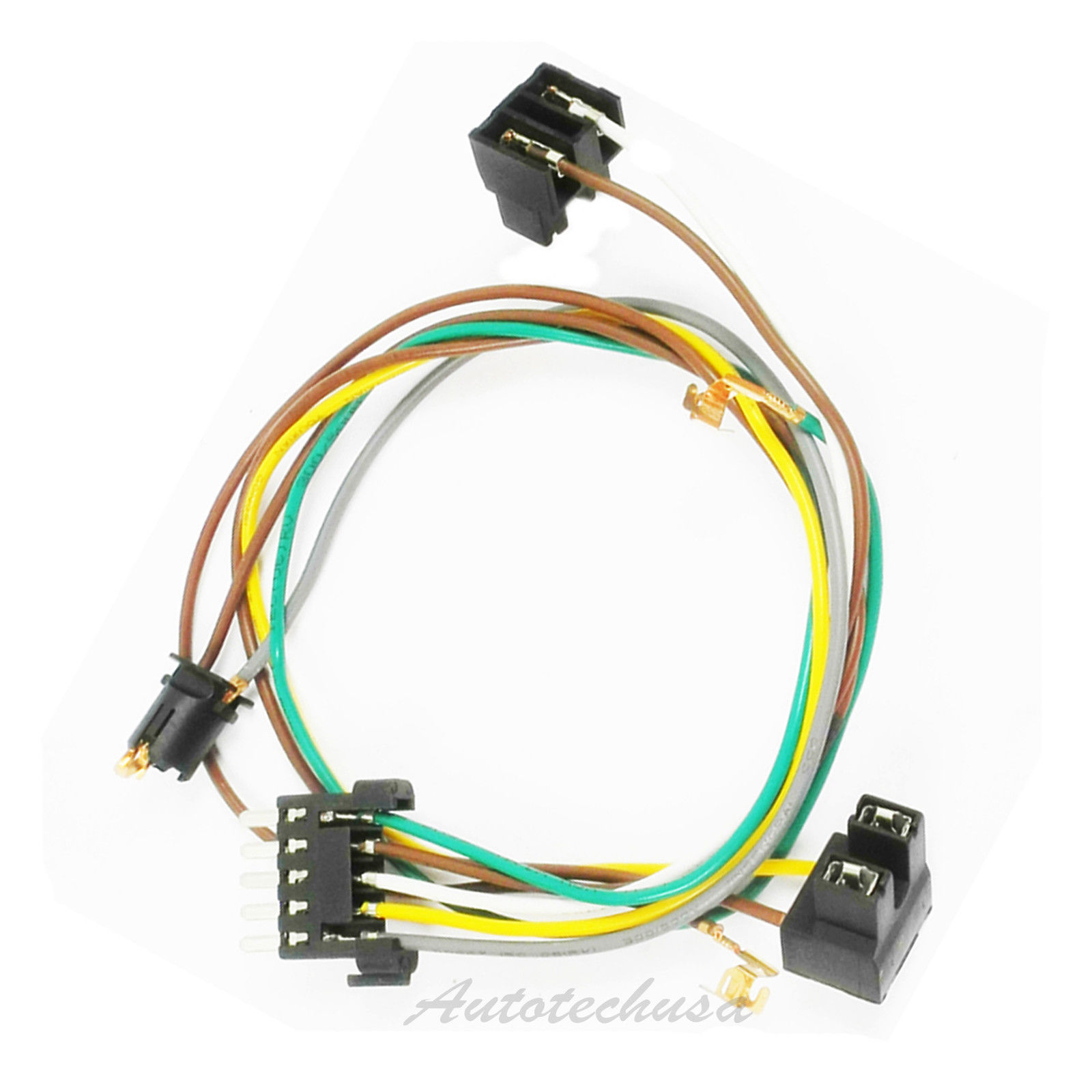hight resolution of left or right headlight wire harness connector kit for dc109 headlight pigtail wiring