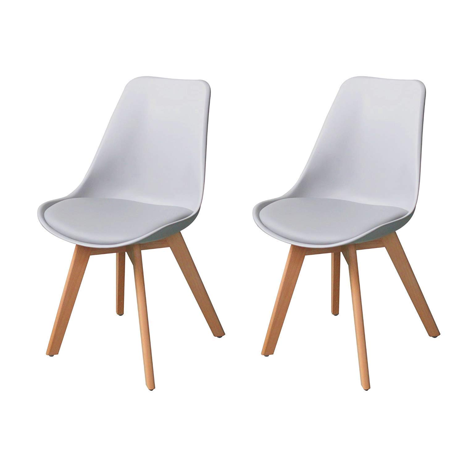 leather side chair home massage ids set of 2 eames style metal legs dining room pu image is loading