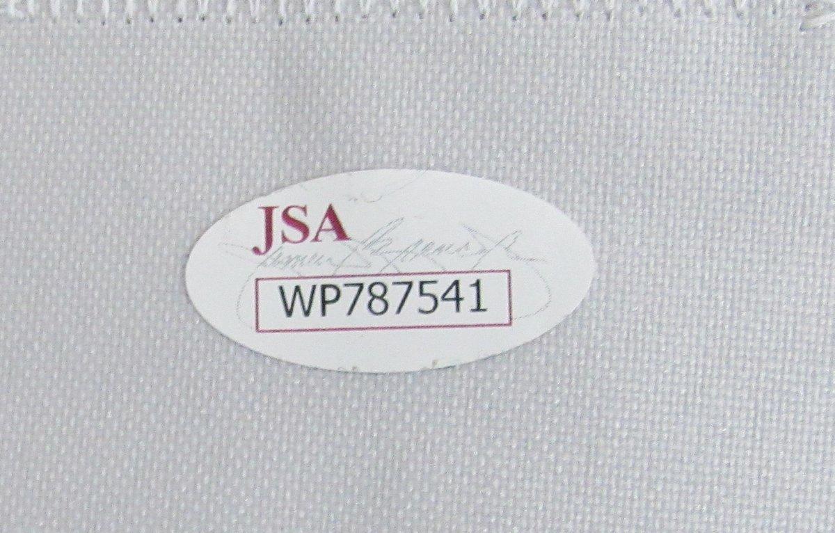 Joe Montana Notre Dame Autographed/Signed Blue Jersey JSA