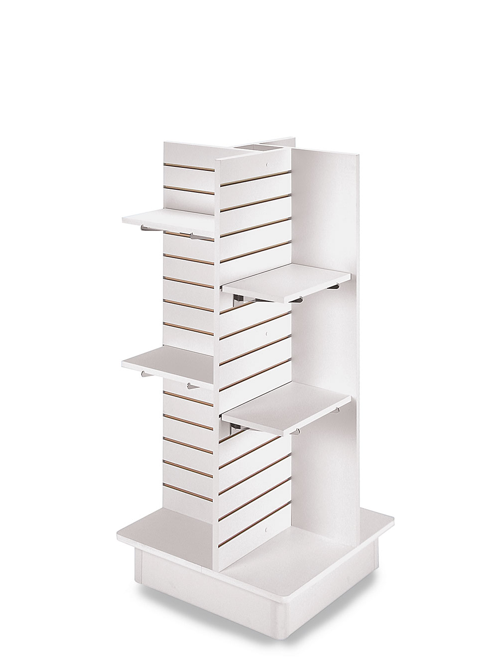 Details About 4 Panel White Slatwall Tower With Casters And Shelves 23 L X 23 W X 54 H