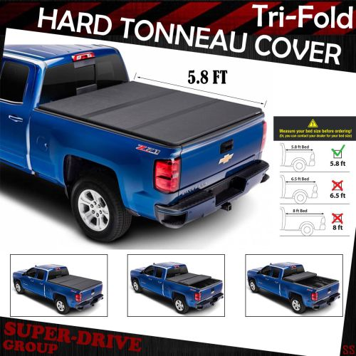 small resolution of lock tri fold hard tonneau cover for 2014 2018 chevy silverado 5 8 ft short bed