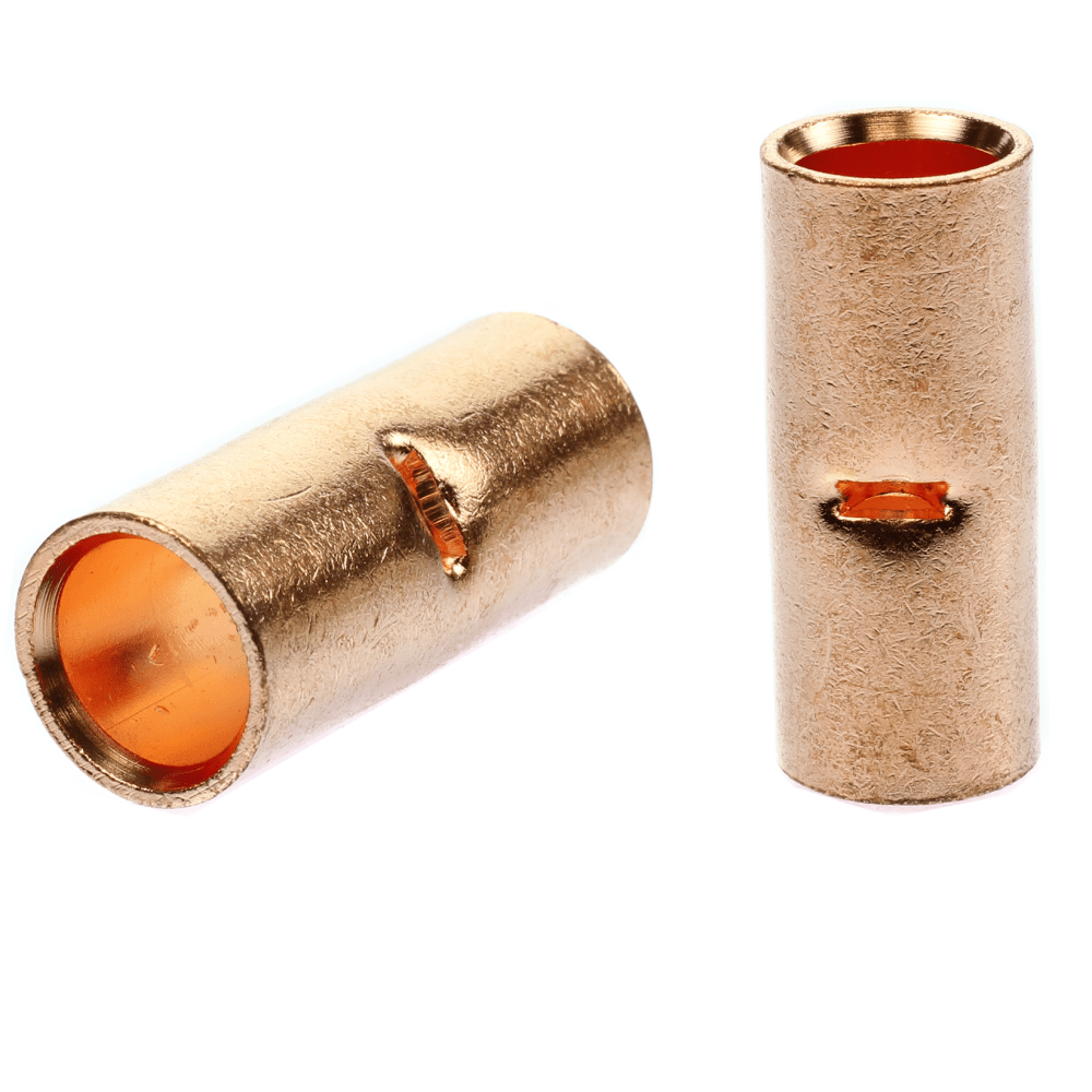 medium resolution of details about 2 2 0 awg gauge wire copper butt connector awg crimp terminal qty 2