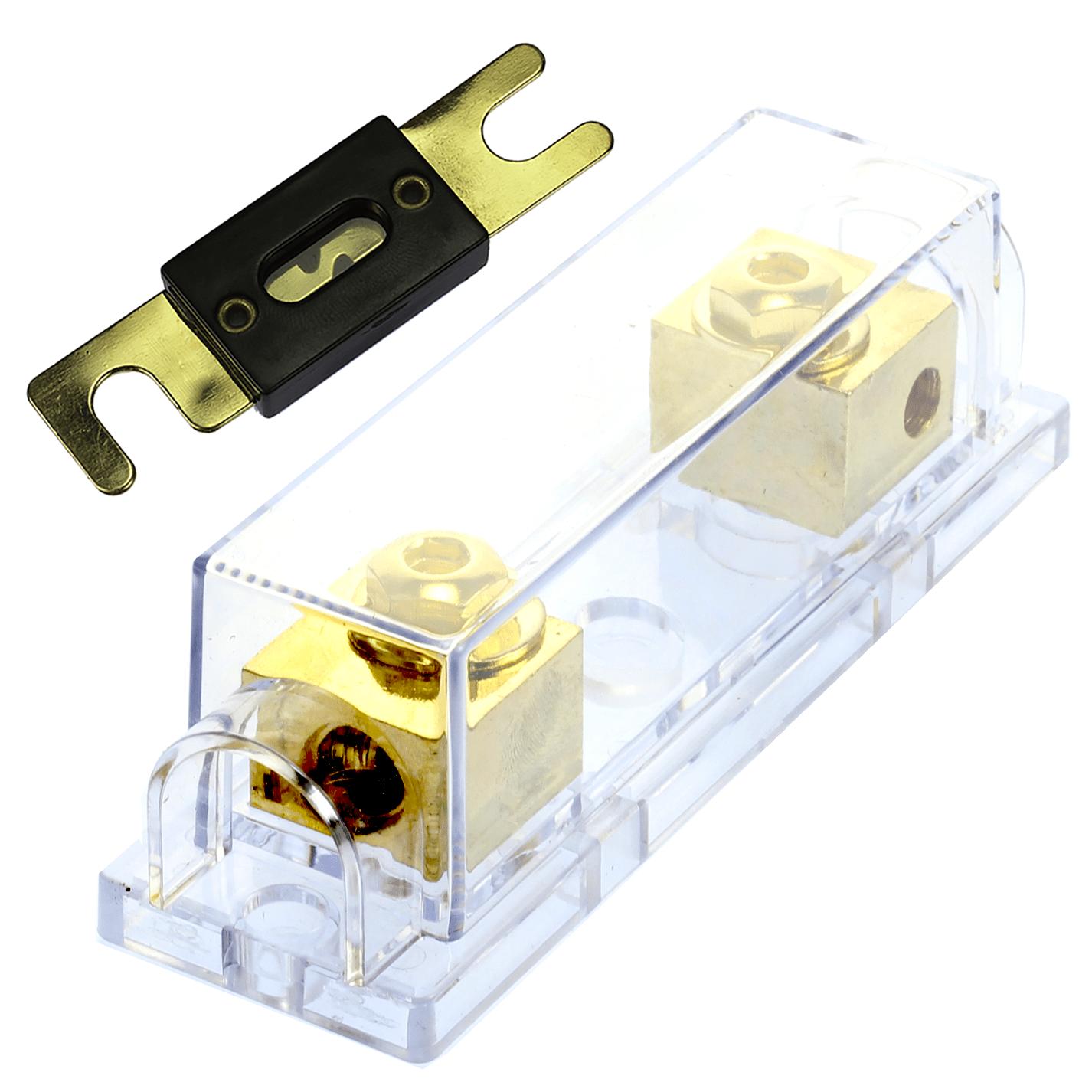 hight resolution of details about 1 150 amp anl fuse holder gold fuseholder 4 awg gauge inline