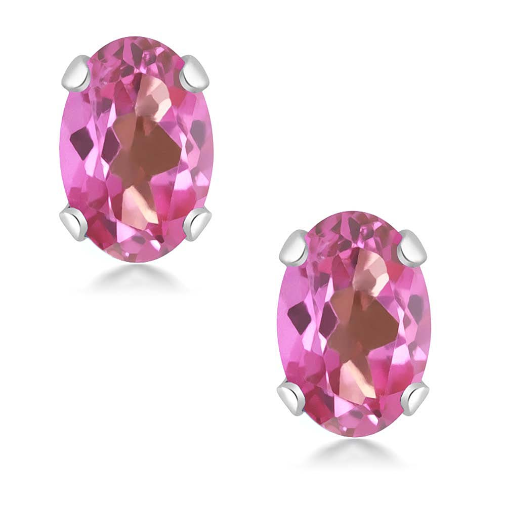 2.45 Ct Mystic Pink Topaz Heart Pendant Earrings 925