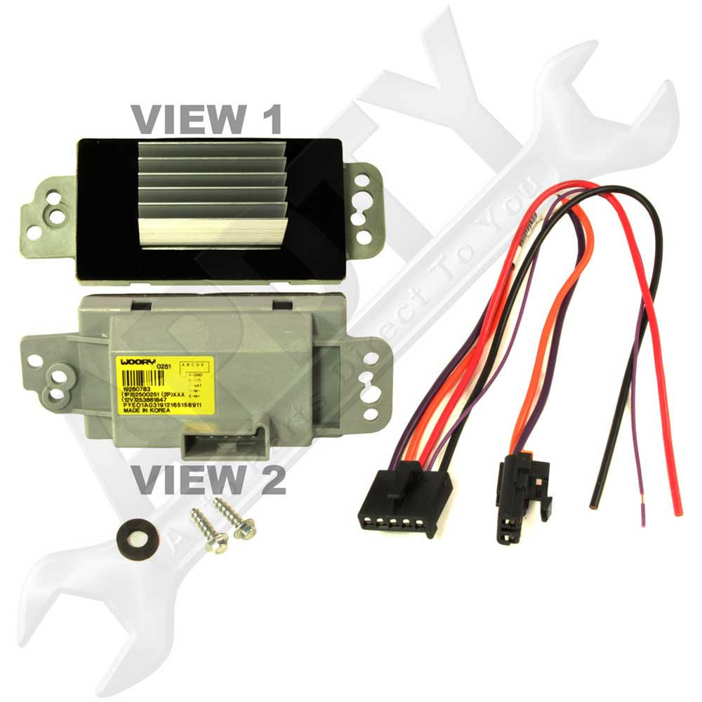 hight resolution of hvac blower motor resistor wiring harness pigtail connector repair