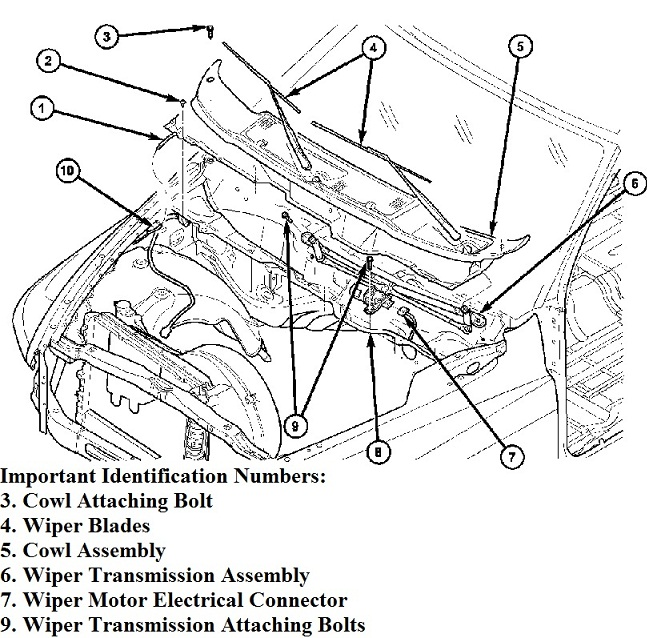 2001 jetta wiper linkage diagram