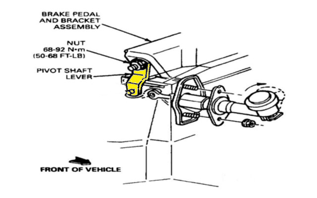 Install 2001 Ford Focus Clutch Pedal Assembly Diagram