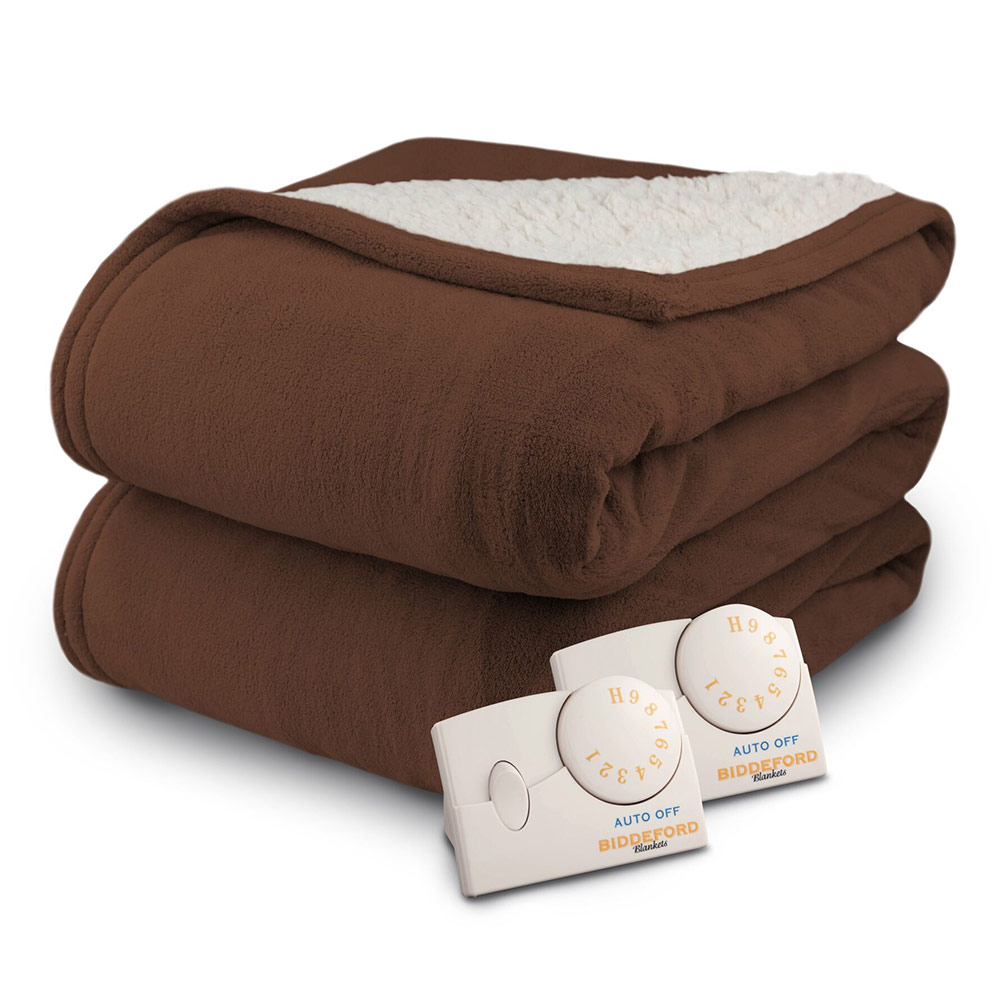 Biddeford MicroPlush Sherpa Analog Electric Blanket Twin Full Queen King   eBay