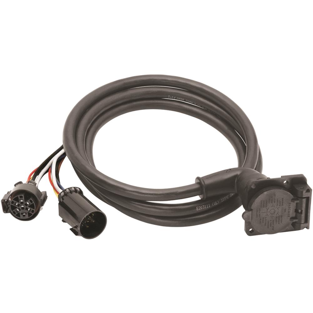 hight resolution of bargman fifth wheel gooseneck 7way trailer wiring harness ebay