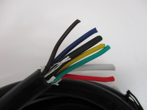 small resolution of 10 camper rv truck trailer 7 way flat pin wiring harness round plug connector