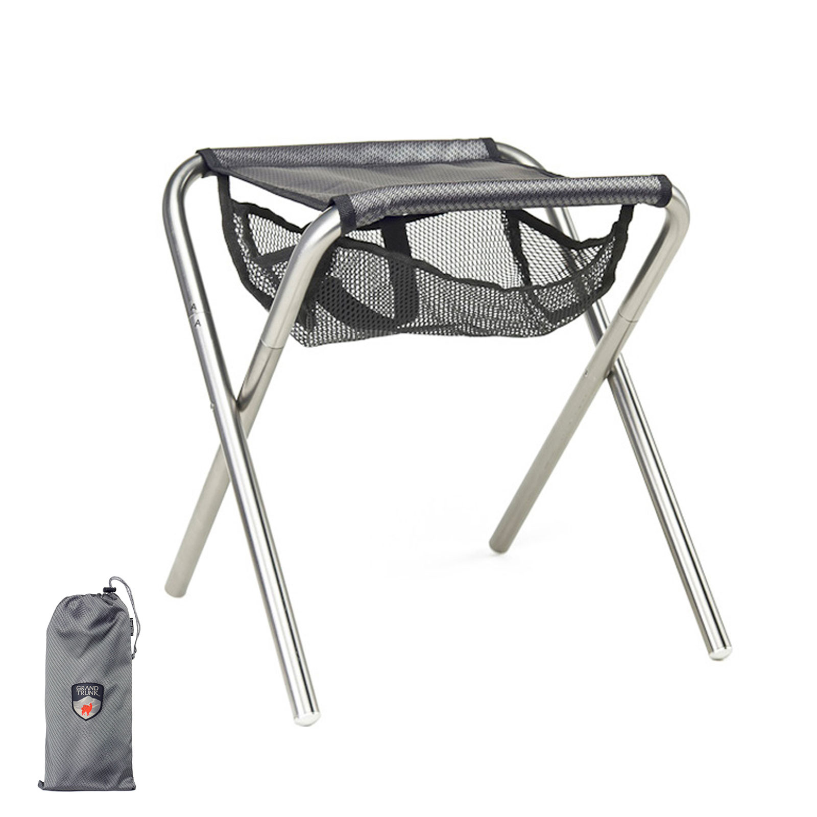 compact camp chair modern office grand trunk collapsible stool folding travel