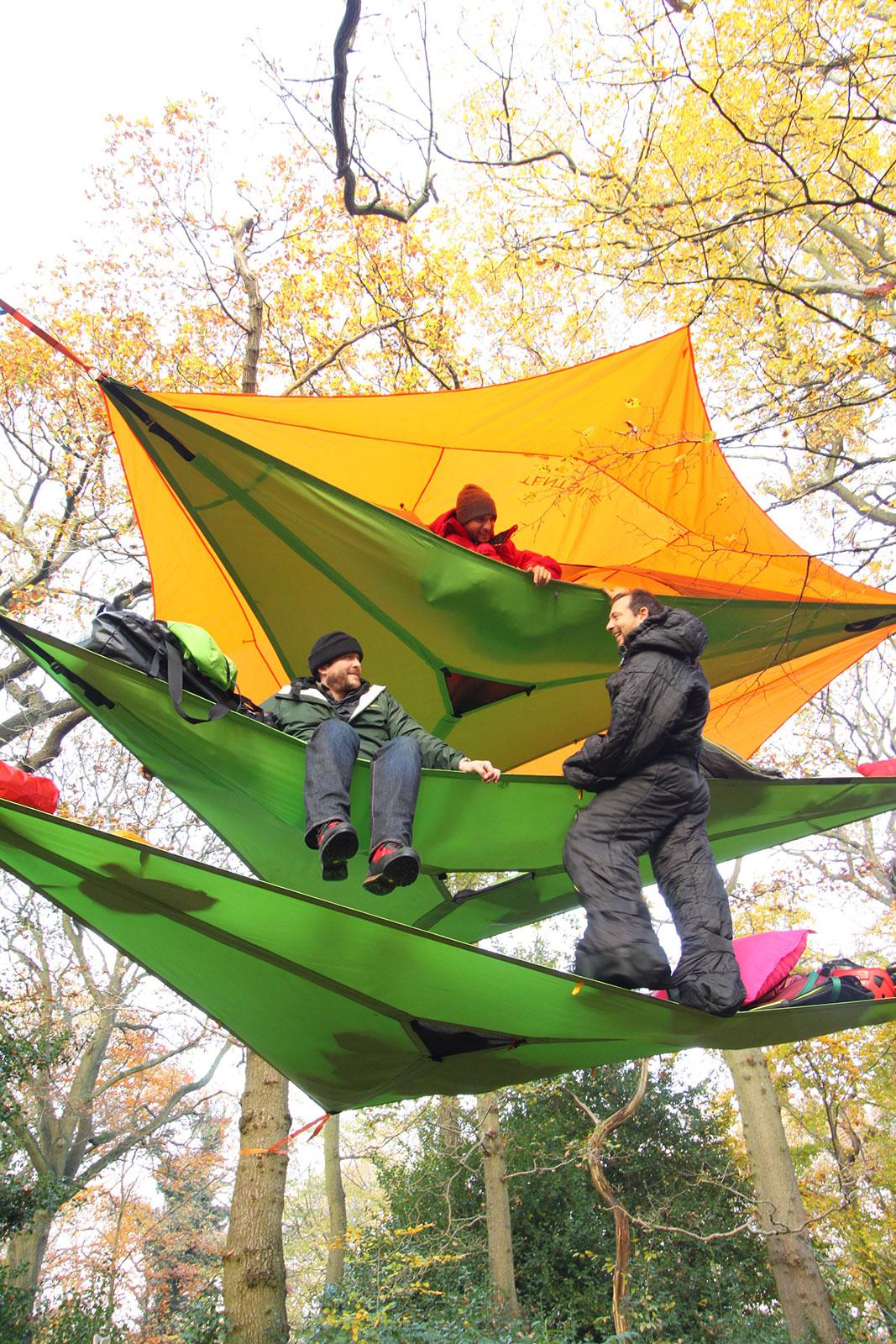 Tentsile Trillium 3 Person Camping Green Nylon Black Mesh