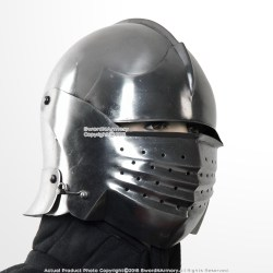 helmet medieval sallet italian steel sca sparring 16g helmets armor knights wma functional larp