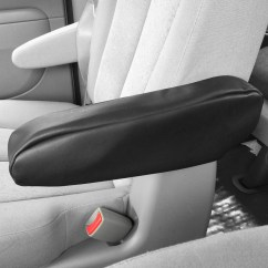 Universal Chair Covers Walmart Adjustable Chairs Without Wheels Faux Leather Armrest Cover For Auto Car Suv Van Truck 1