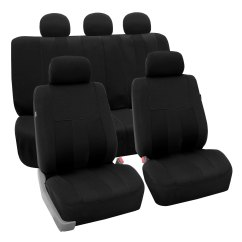 Chair Covers For Headrest Office Not Staying Up Full Set Car Seat Auto Suv Van Black W 4