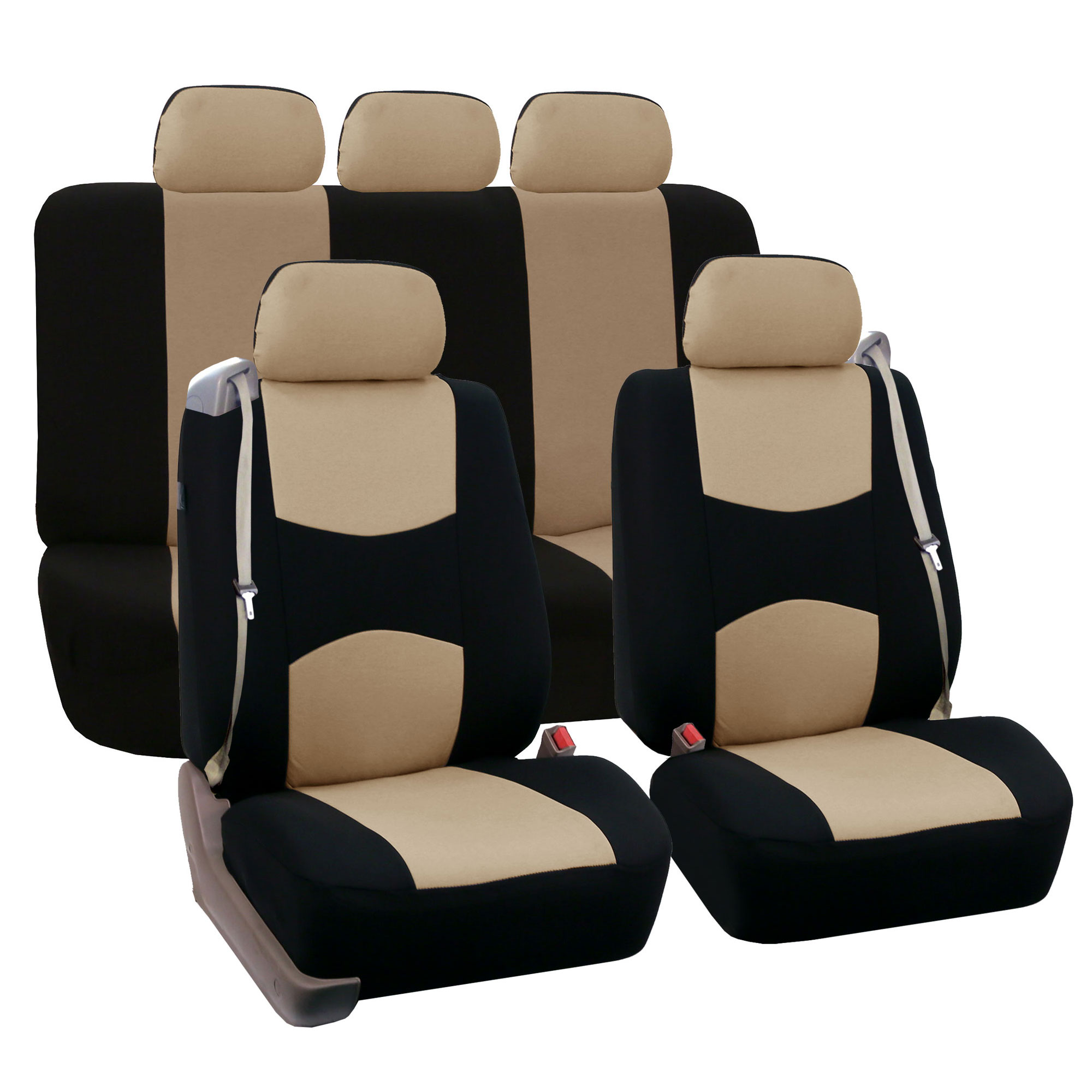 chair covers for headrest muuto nerd replica car seat cover full set integrated seatbelt 5