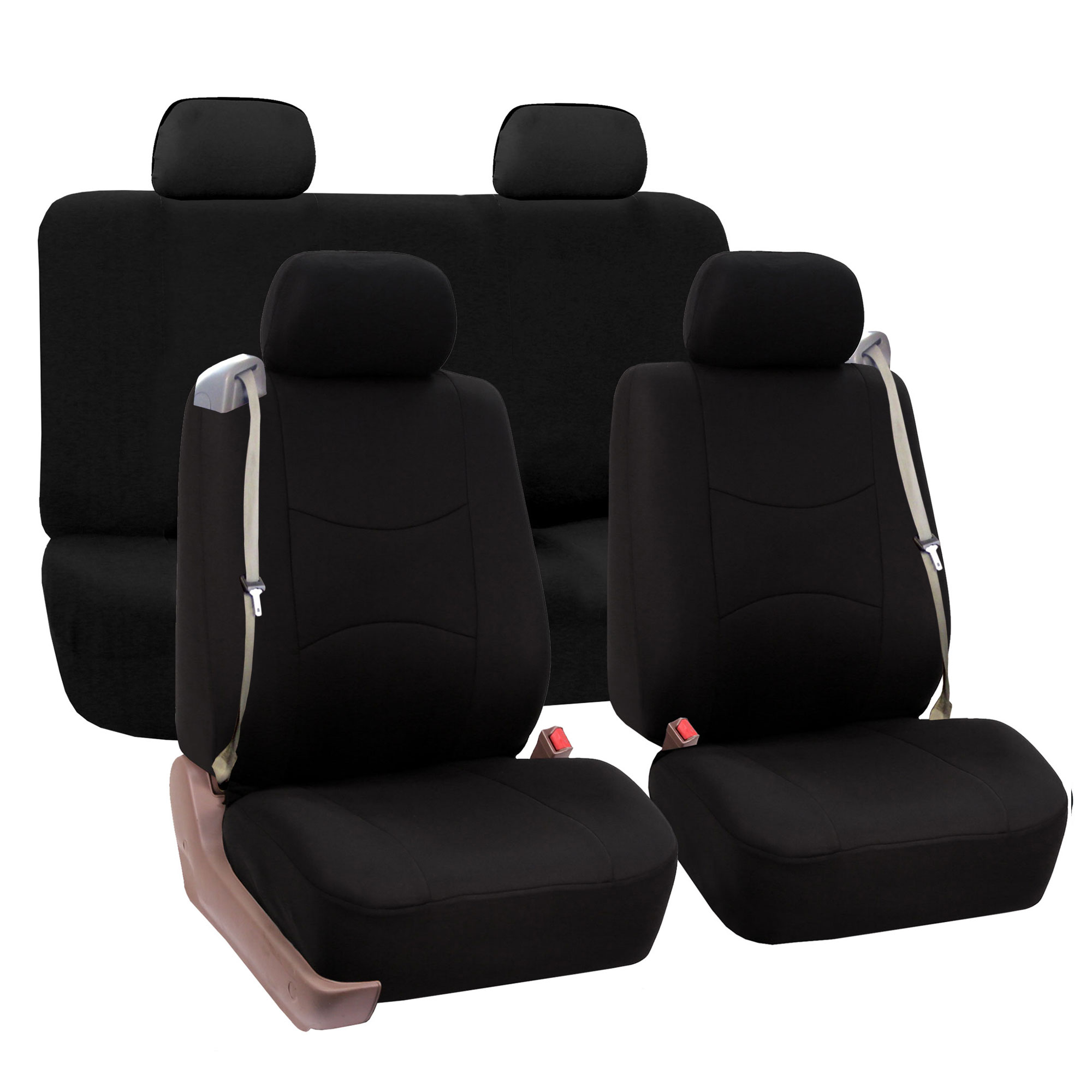 chair covers for headrest eno stand car seat cover full set integrated seatbelt 4